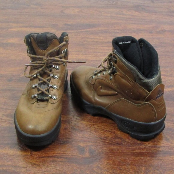 Zapatos Nike Air Acg marrón Leather Ankle Boots Size Size Boots 8 Poshmark 7f52ea